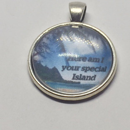 South Pacific Bali Hai Your Special Island Round Pendant