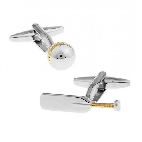 Half a Sixpence Cricket Bat & Ball Cufflinks