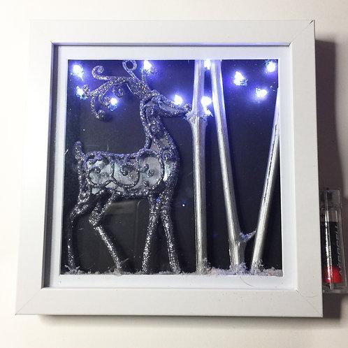 Christmas Light Up Deer Shadow Box