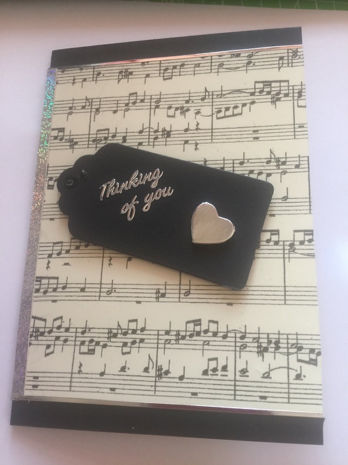 Black music 'Thinking of You' card