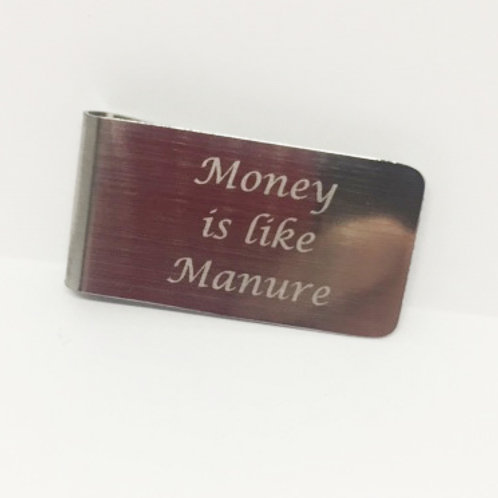 Hello Dolly 'Money is like Manure' Money Clip