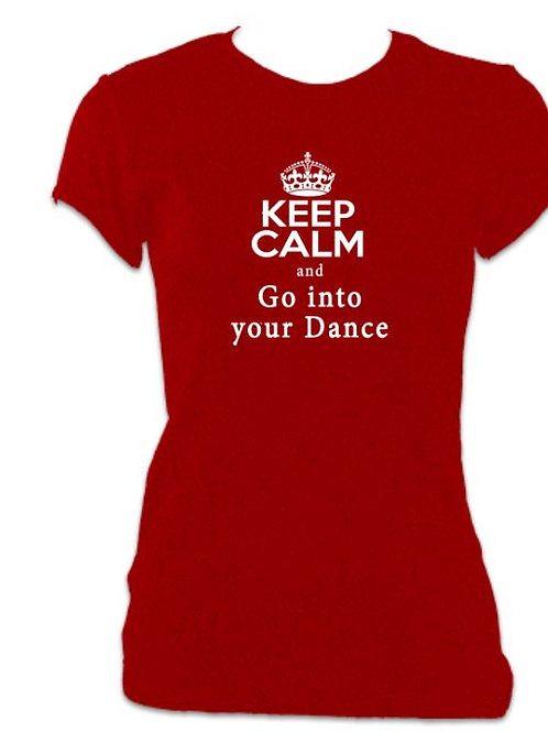 42nd Street Ladies Fitted Go into your Dance T-shirt