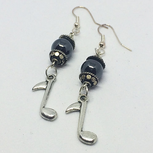 Music Note Drop earrings