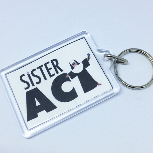 Sister Act Double Sided Keyring