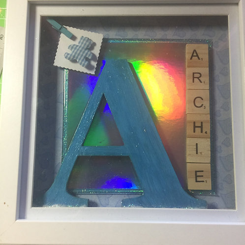 Bespoke large child's occasion or new baby shadow box