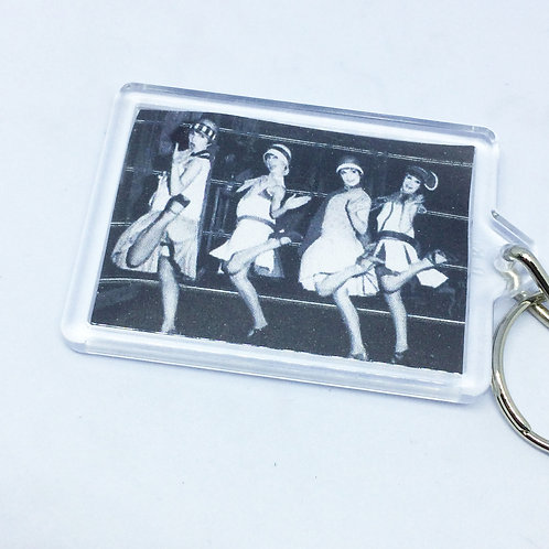1920's Flapper Double Sided Keyring