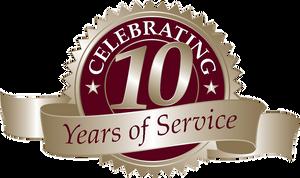 10 year anniversary Seal