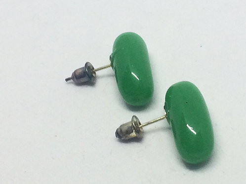 Jack and the Beanstalk Green 'Magic' Beans Stud Earrings