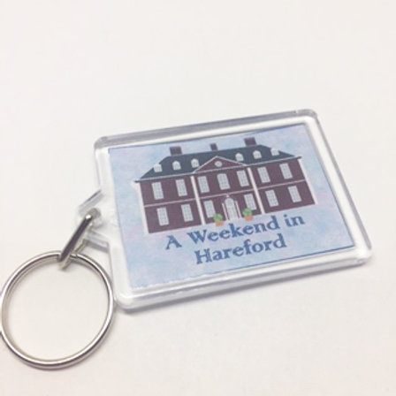 Me & My Girl Weekend in Hareford double sided keyring