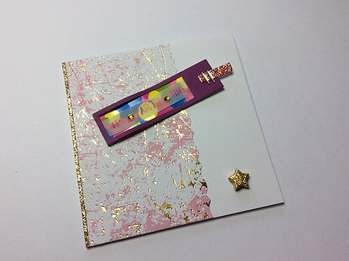 'It's Party Time'  Small Square Card