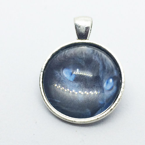 Cats Face Round Pendant