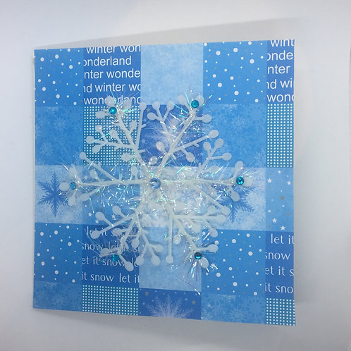 Let it Snow snowflake Card