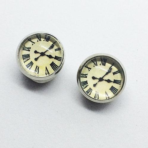 Clock Face earrings