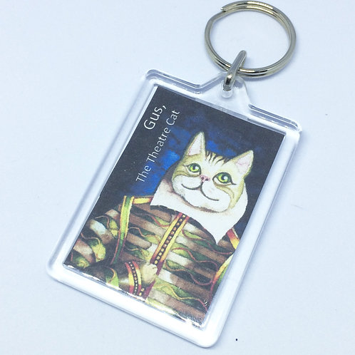 Gus the Theatre Cat Double Sided Keyring
