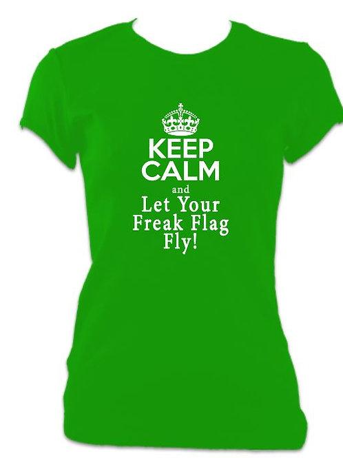 Shrek Ladies Fitted Freak Flag Fly T-shirt