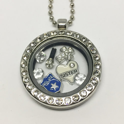 Sister Act memory locket necklace