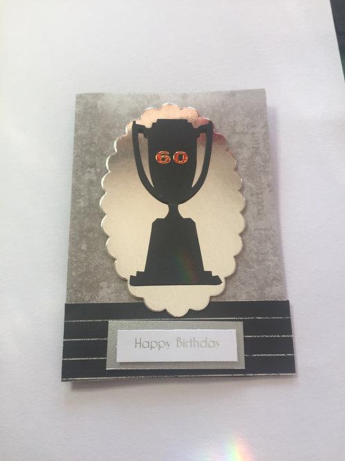 60th birthday Trophy Birthday card