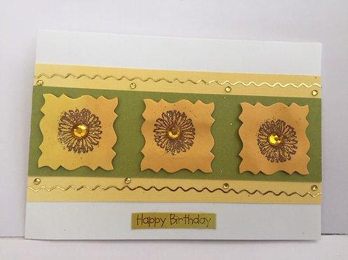Yellow sunflowers Happy Birthday card