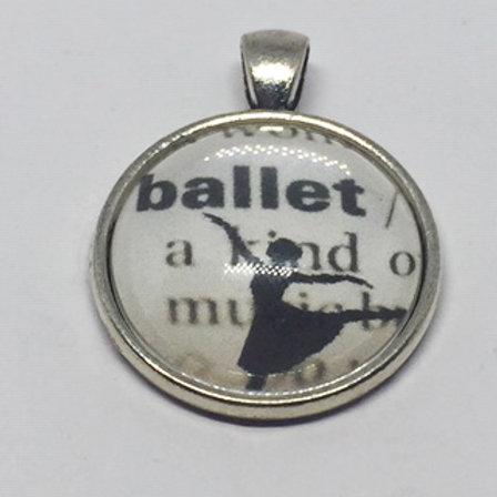 Ballet Definition Round Pendant