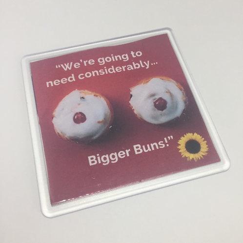 Calendar Girls Bigger Buns Coaster