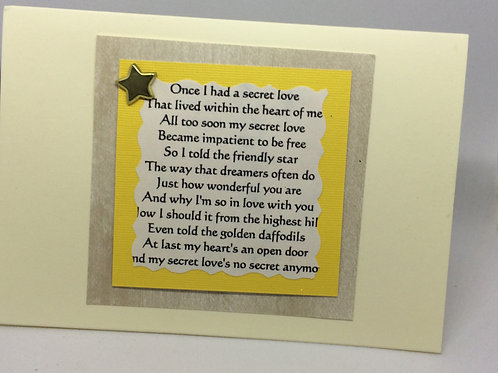 Calamity Jane 'Secret Love' Card