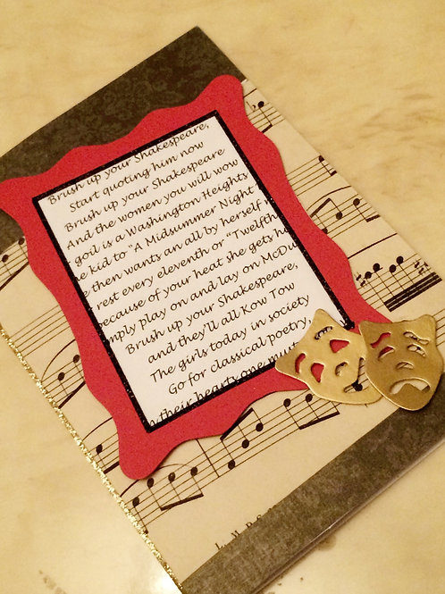 Kiss Me Kate 'Brush up your Shakespeare' Card