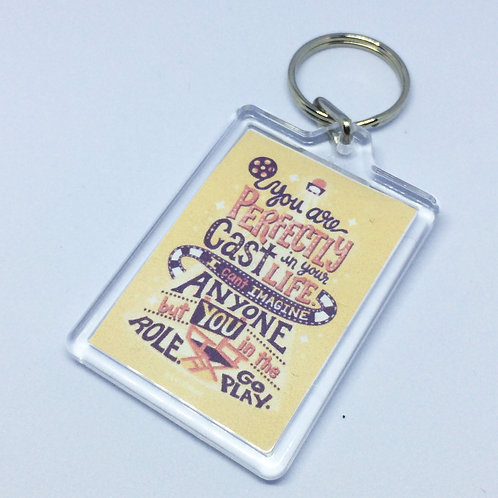 Perfectly Cast Double Sided Keyring