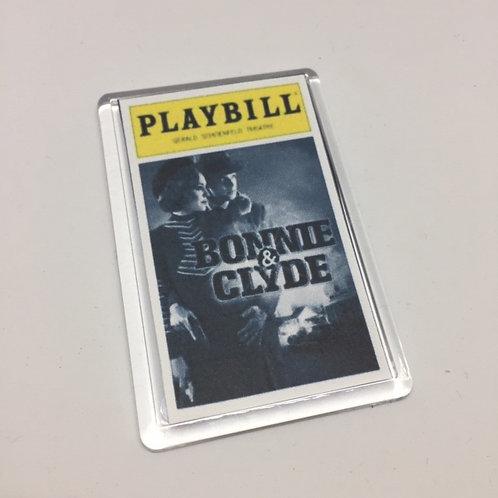 Bonnie & Clyde Playbill Fridge Magnet