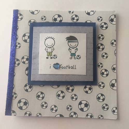 I Love Football Small Square Card