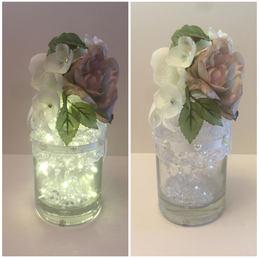 Pink Floral LED Gin Bottle 02