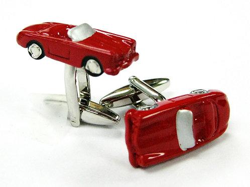 Red Sports Car Cufflinks