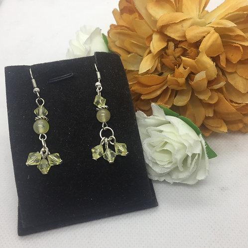 Lemon crystal drop earrings
