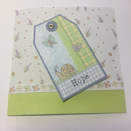 Hope Butterflies Small Square Card