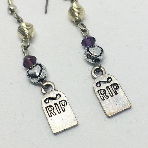 Tombstone drop earrings