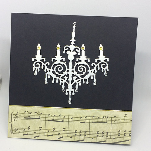 Phantom Of The Opera Chandelier Card