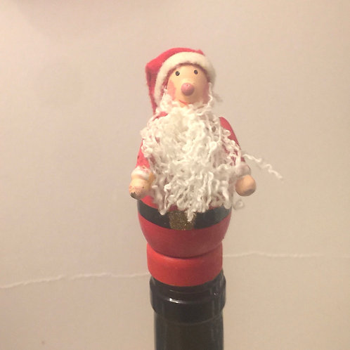 Father Christmas Wooden Bottle Stopper