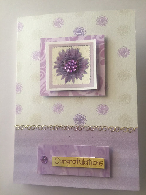 Lilac 'Congratulations' Card