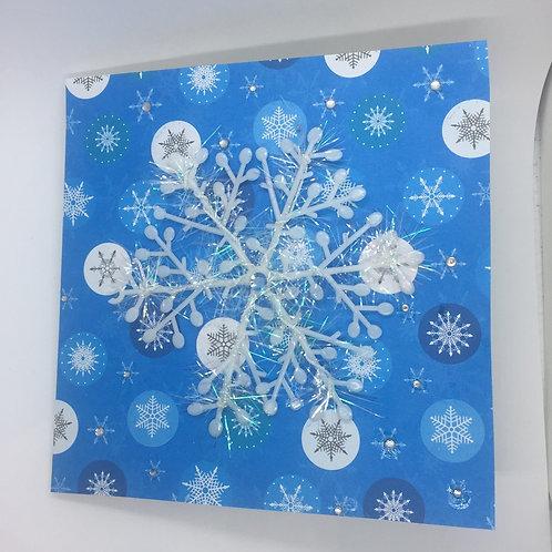 Snow flurry snowflake card