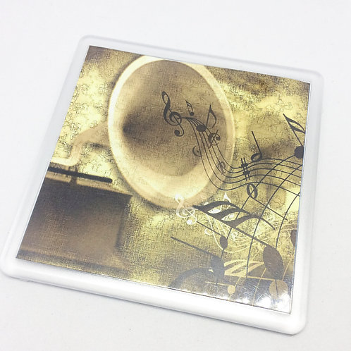 Music Gramophone Coaster