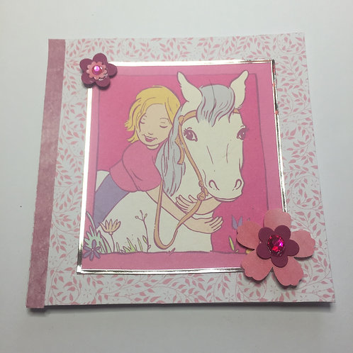 Pink Pony blank Small Square Card