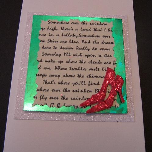Wizard of Oz Lyrics card