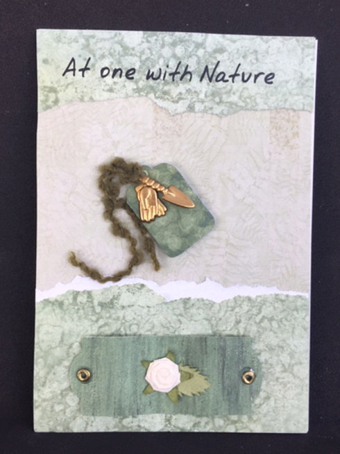'At One with Nature' blank card