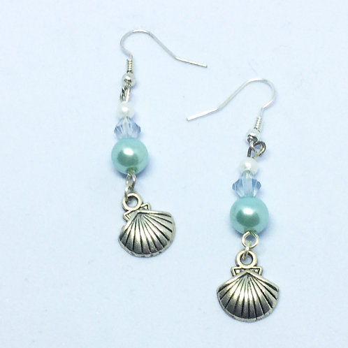 Lady of the Lake Shell drop earrings