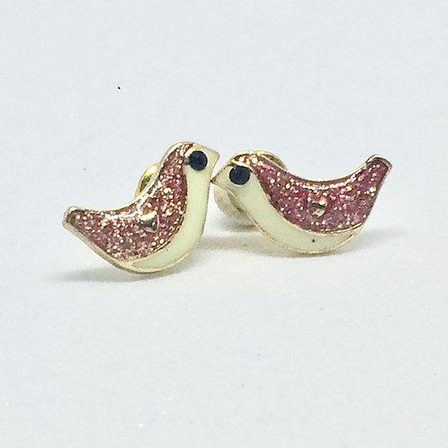 Enamel Bird Stud Earrings
