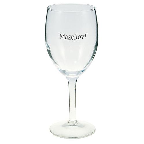 Mazeltov Wine Glass