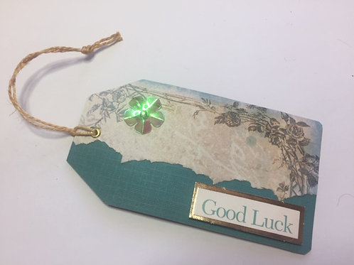 Turquoise Good Luck Gift tag