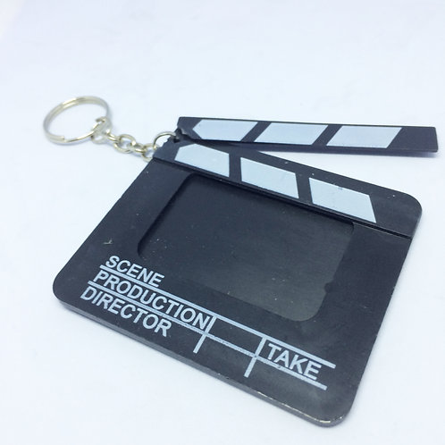 Movie Clapper Board Photo Keyring