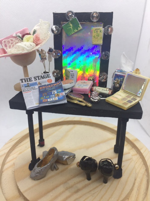 Miniature Theatre Dressing Room Table under a dome