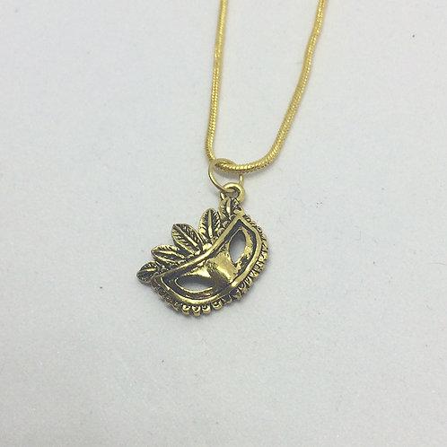 Gold Masquerade Necklace