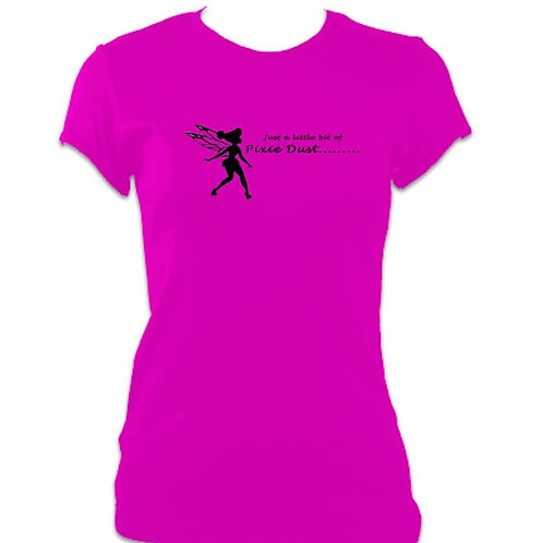 Peter Pan Ladies Fitted Pixie Dust T-shirt